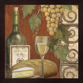 Art Licensing Studio 'Wine and Cheese Tasting 1' Mahogany Deep Box Framed Art