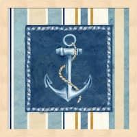 Cynthia Coulter 'Nautical Stripe III' Framed Art