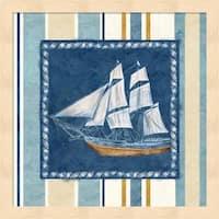 Cynthia Coulter 'Nautical Stripe II' Framed Art