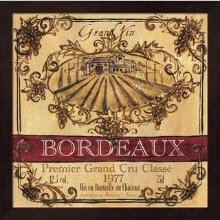 Tre Sorelle Studios 'Grand Vin Wine Label III' Framed Art