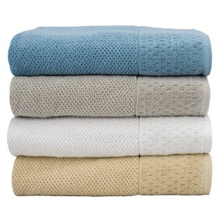 Luxurious Rice Weave Jacquard 6-Piece Cotton Towel Set