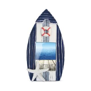 Nautical Decor Blue Stripes Boat Frame