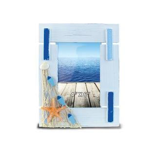 Nautical Decor Light Blue Stripes Frame