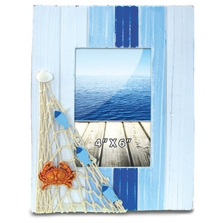 Nautical Decor Light Blue Stripes Frame