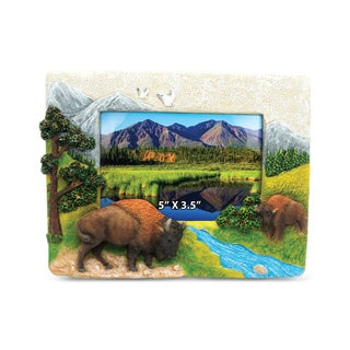 Stone Resin Buffalo Frame