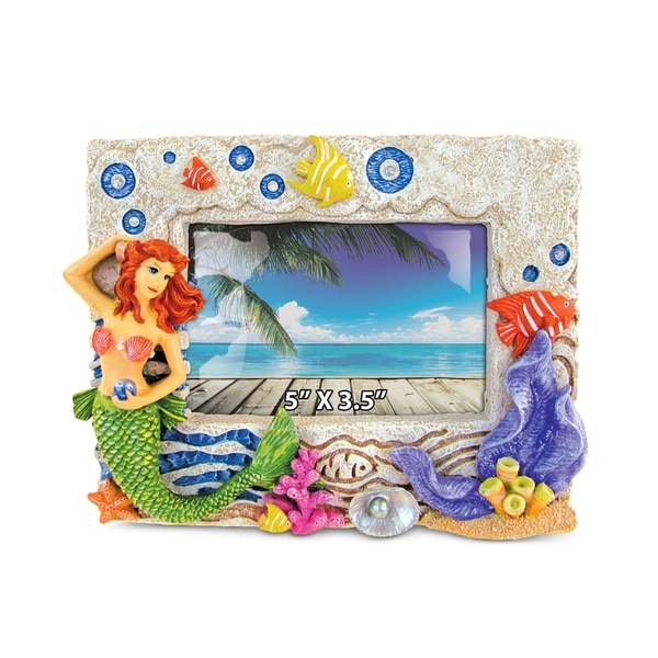 Stone Resin Mermaid Frame