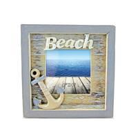 Nautical Decor Vintage Beach Frame