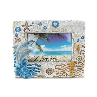 Stone Resin Dolphin Frame