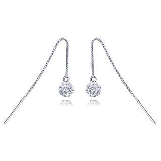 18k White Goldplated Ball Earrings