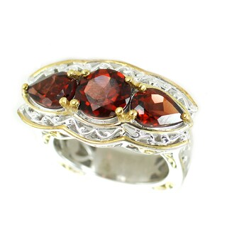 One-of-a-kind Michael Valitutti Garnet Cocktail Ring