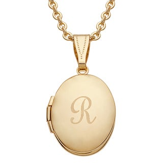 Kids Goldtone Oval Engraved Locket