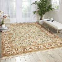 Nourison Royalty Light Green Area Rug - 7'9 x 9'9