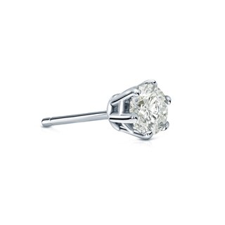 Auriya 14k Gold 1/4ct TDW Round-Cut Diamond 6-Prong Push-Back Single Stud Earring (J-K, I2-I3)