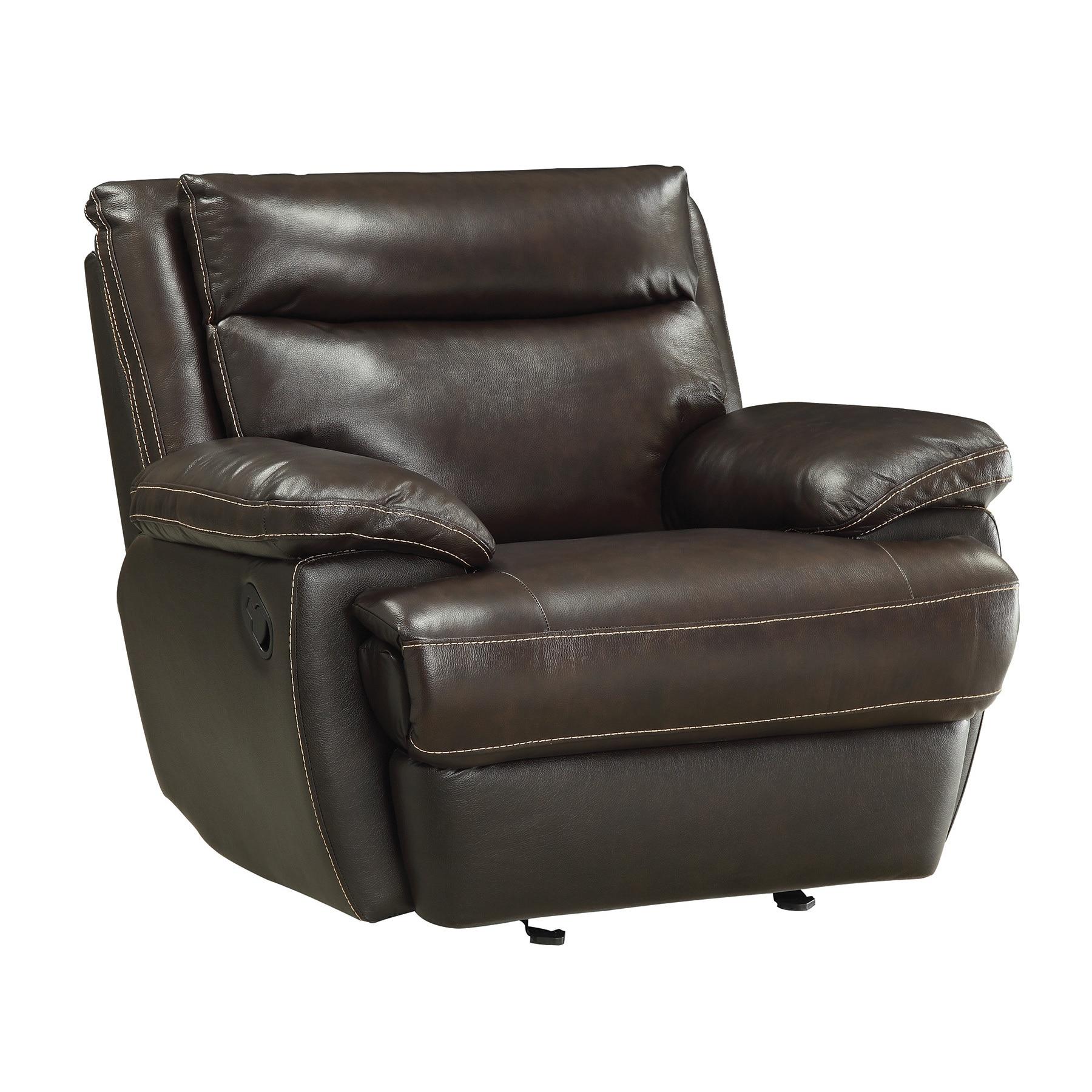 Coaster Furniture Cocoa Bean Leather Glider Recliner (Bro...