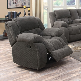 Chenille Pillow Padded Glider Recliner