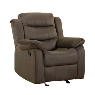 Chenille Pillow Arms Glider Recliner