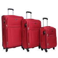 Dejuno Escape 3-piece Softside Lightweight Spinner Upright Luggage Se