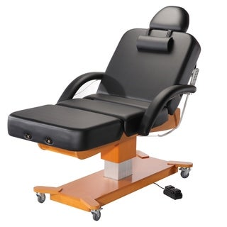 Master Massage MaxKing Leather/Wood 30-inches Salon Electric Lift Table