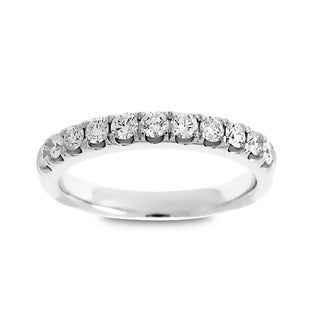 Azaro Jewelry 14k White Gold 1/2ct TDW Round Diamond Wedding Band (G-H, SI1-SI2)