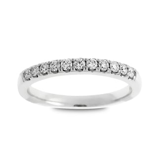 Azaro Jewelry 14k White Gold 1/4ct TDW Round Diamond Wedding Band (G-H, SI1-SI2)