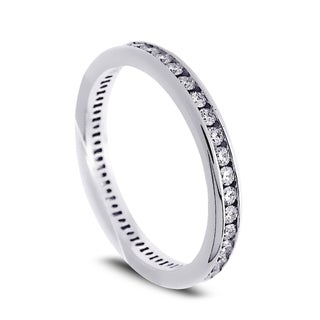 Azaro Jewelry 14k White Gold 1/2ct TDW Round Diamond Eternity Wedding Band