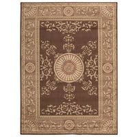 Nourison Rhythm Brown Area Rug - 5'3 x 7'4