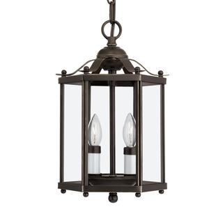 Sea Gull Bretton 2 Light Heirloom Bronze Semi-Flush Convertible Pendant