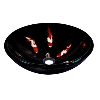 Novatto Fiche Glass Vessel Bathroom Sink