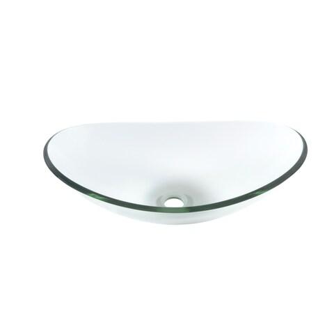Novatto Chiaro Glass Vessel Bathroom Sink