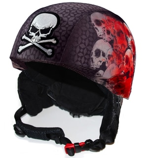 StretcheeHeads Screaming Skulls Spandex Helmet Cover
