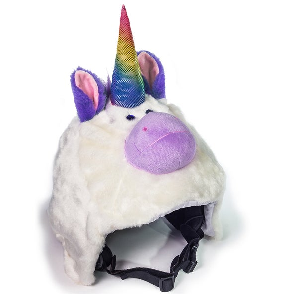 crazeeHeads Angel the Unicorn Multicolor Fabric Plush Helmet Cover