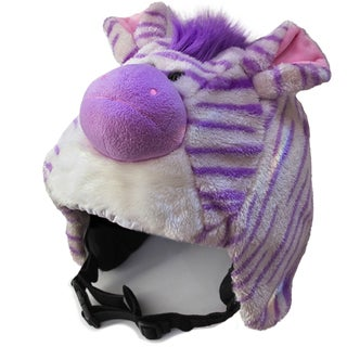 crazeeHeads Zoe the Zebra Plush Helmet Cover