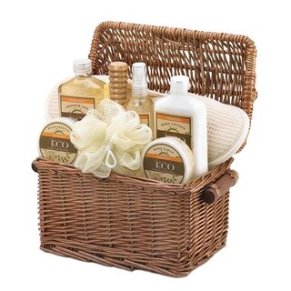 Bath and Body Vanilla Ginger Scent Gift Basket