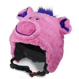 crazeeHeads Poppi the Pig Multicolor Fabric Plush Helmet Cover
