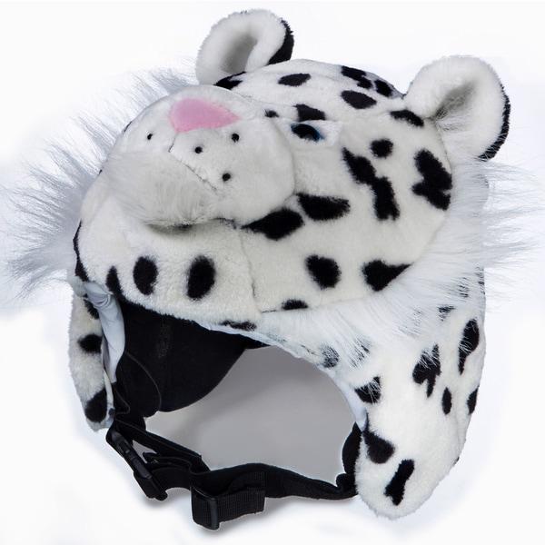 crazeeHeads Zippy the Snow Leopard Plush Helmet Cover