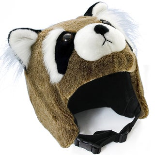 crazeeHeads Benny the Bandit Raccoon Multicolored Plush Fabric Helmet Cover