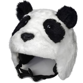 crazeeHeads Zee Zee the Panda Black/White Fabric Plush Helmet Cover