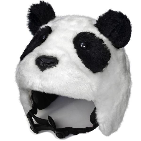crazeeHeads Zee Zee the Panda Black/White Fabric Plush Helmet Cover
