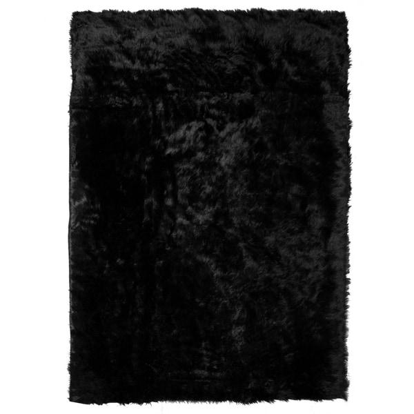 Shop Aileen Faux Sheepskin Faux Fur Rectangular 3-feet X 5
