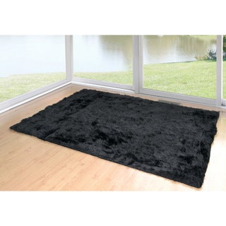 Aileen Faux Sheepskin Faux Fur Rectangular 3-feet x 5-feet Area Rug