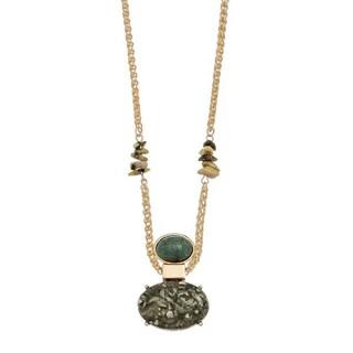 Jade Stone Pendant Gold Tone Necklace|https://ak1.ostkcdn.com/images/products/12510403/P19317326.jpg?_ostk_perf_=percv&impolicy=medium