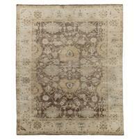 Exquisite Rugs Super Fine Oushak Mink / Ivory New Zealand Wool Rug (6' x 9') - 6' x 9'