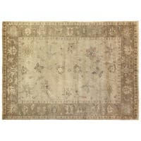 Exquisite Rugs Turkish Oushak Ivory / Beige New Zealand Wool Rug (12' x 15')