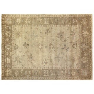 Exquisite Rugs Turkish Oushak Ivory / Beige New Zealand Wool Rug (12' X 15') - 12' x 15'