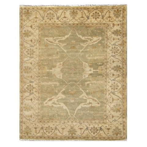 Exquisite Rugs Turkish Oushak Light Green / Ivory New Zealand Wool Rug - 14' x 18'