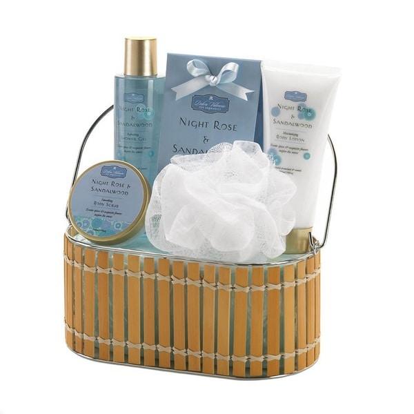 Bath and Body Gift Basket - Night Rose and Sandalwood