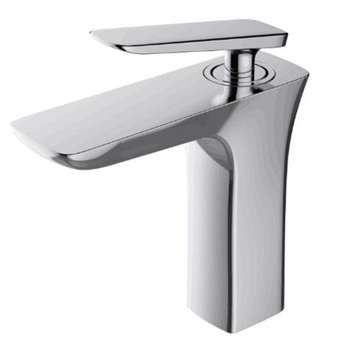 Luxurious Chrome Finish Single-handle Lavatory Faucet