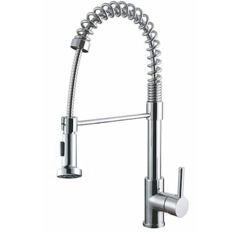 AA Warehousing Luxurious Chrome Finished Single Handle Pull-out Kitchen Faucet