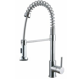 Luxurious Chrome Finish Single Handle Pull-out Kitchen Faucet