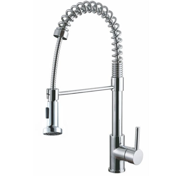 Y Decor Luxurious Chrome Finished Single Handle Pull Out Kitchen Faucet    Chrome/